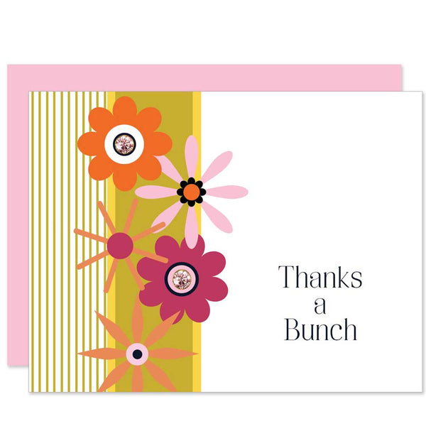 Mod Flower Thank You Card - ModLoungePaperCompany