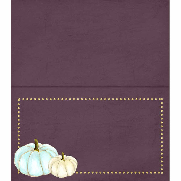White Pumpkin Place cards - ModLoungePaperCompany