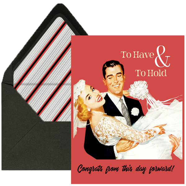 Wedding Couple To Have and to Hold Wedding Card - ModLoungePaperCompany