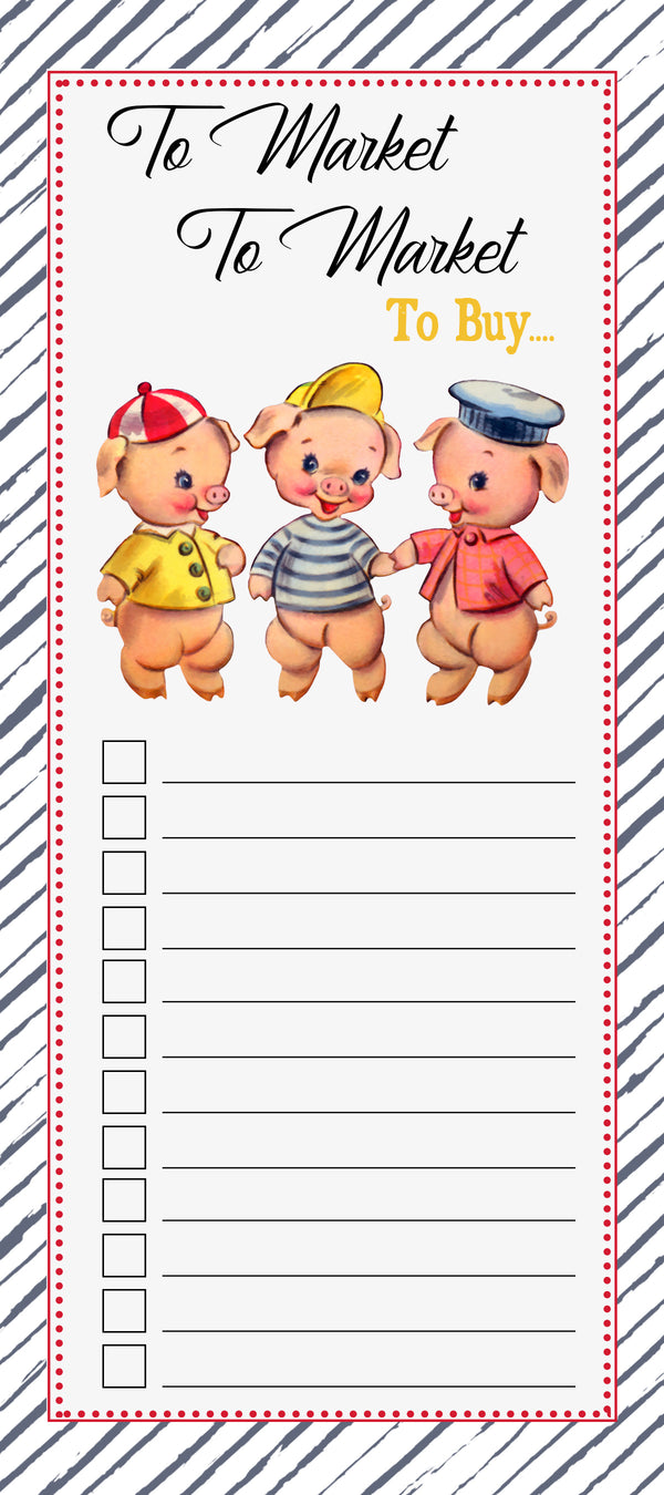 Three Little Pigs Notepad - ModLoungePaperCompany
