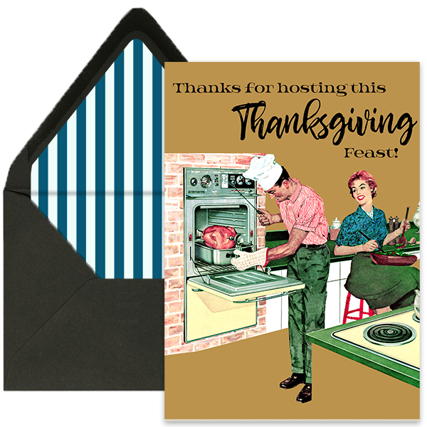 Thanksgiving Host Greeting Card - ModLoungePaperCompany