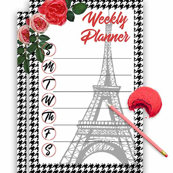 Tour Parisienne Weekly Planner - ModLoungePaperCompany