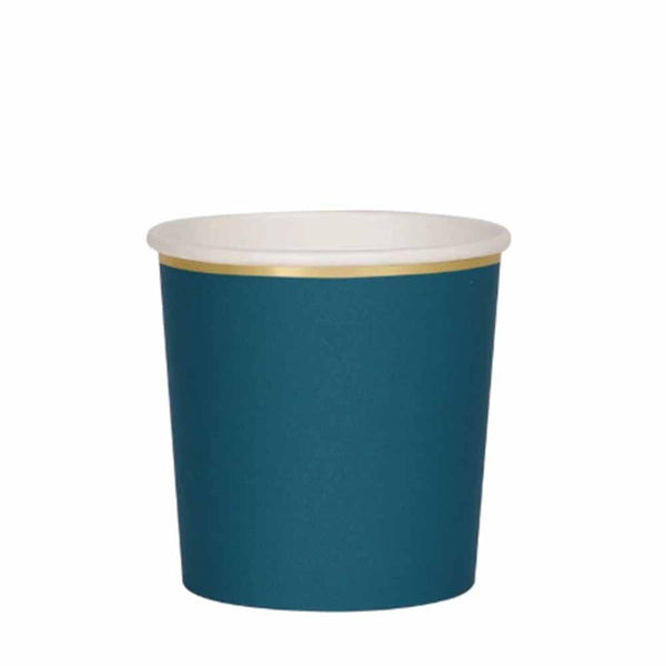 dark teal tumbler cup by meri meri