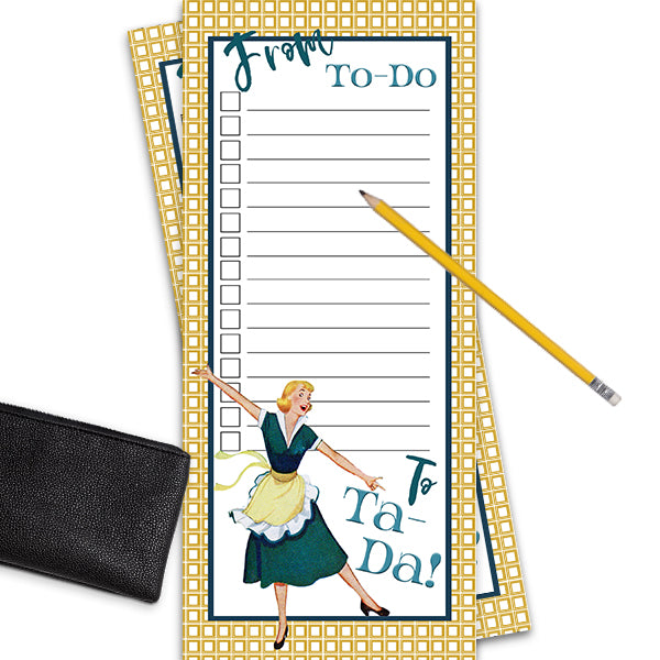 Vintage Housewife Notepad - ModLoungePaperCompany