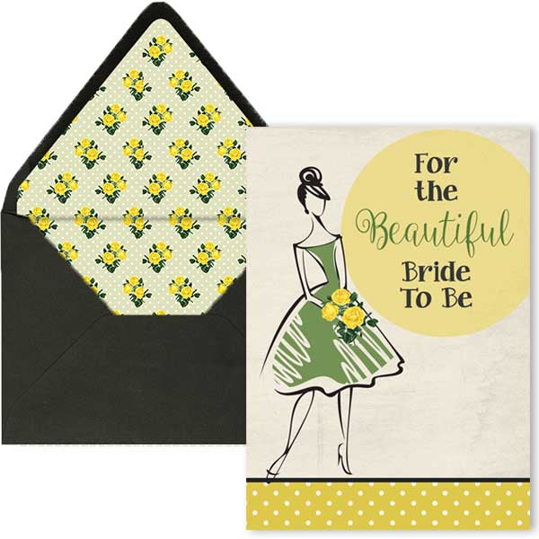 Vintage Bride To Be Shower Card - ModLoungePaperCompany
