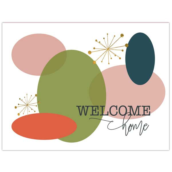 Welcome Home Folded Notecard - ModLoungePaperCompany
