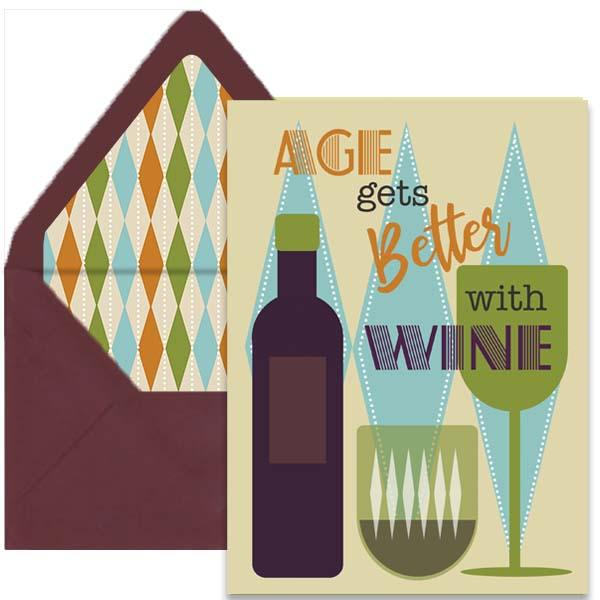 Wine Greeting Card - ModLoungePaperCompany