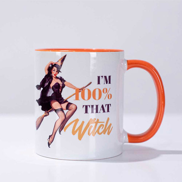 witch pinup mug