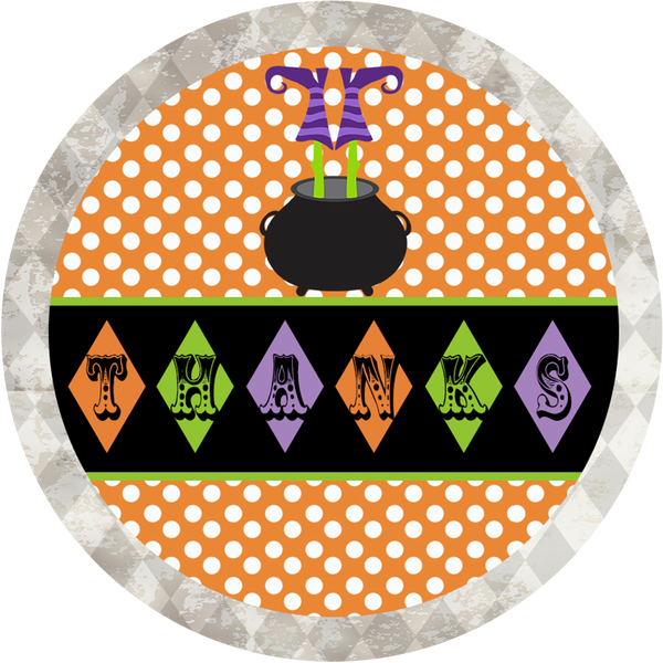 Witches Boot Thanks Circle Sticker - ModLoungePaperCompany