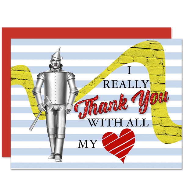 Wizard Of Oz Tin Man Thank You Card - ModLoungePaperCompany