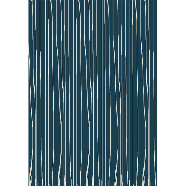 Blue Worn Stripe Gift Wrap - ModLoungePaperCompany