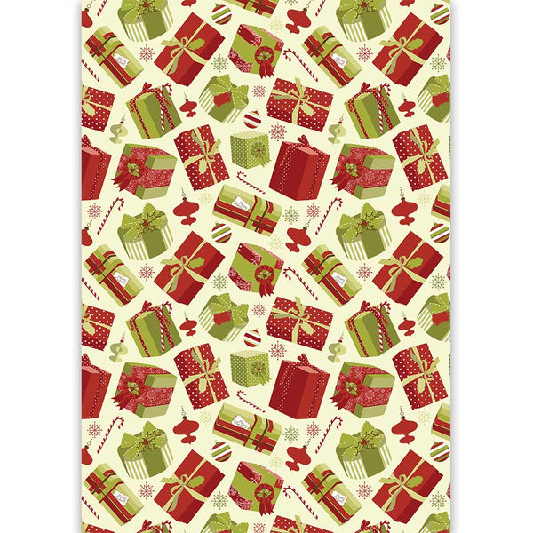 Vintage Holiday Gifts Gift Wrap - ModLoungePaperCompany