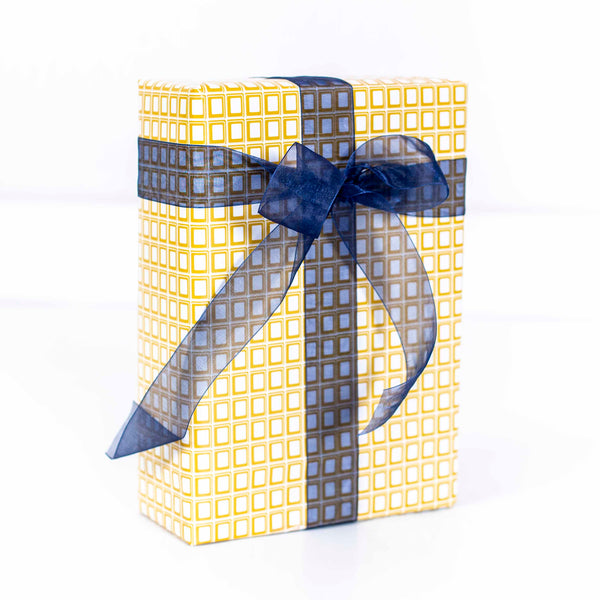 Yellow Square Gift Wrap - ModLoungePaperCompany