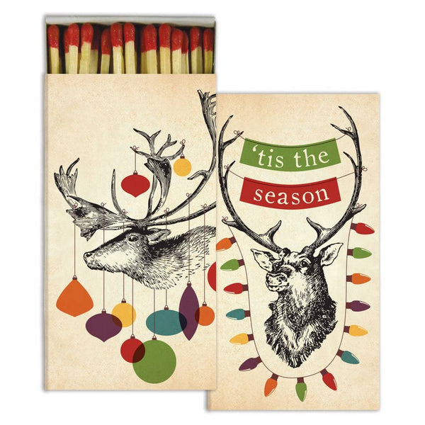 Decorated Stags Boxed Matches - ModLoungePaperCompany