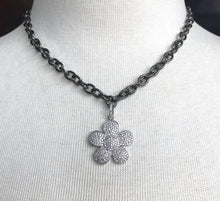 Crystal Flower Chain Choker