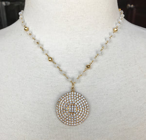 Swarovski Crystal & Moonstone Necklace