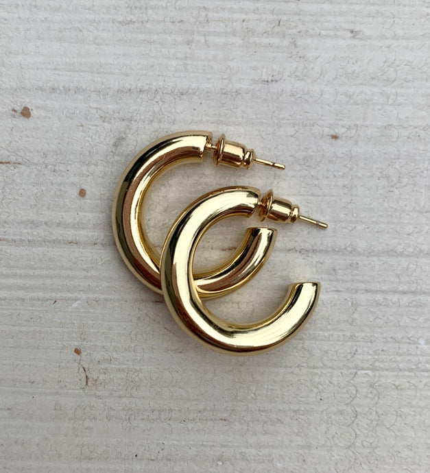 Chunky Gold Hoops | Small