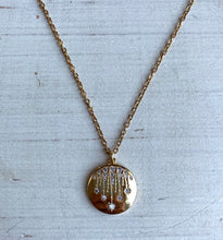 Shooting Star Gold Disc Necklace