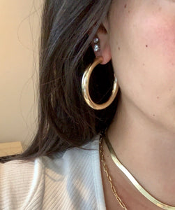 Chunky Gold Hoops | Large