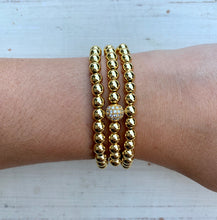 Metallic Stackables - Pave Gold 6mm