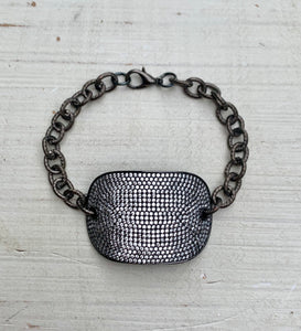 Large Dog Tag Chain Bracelet
