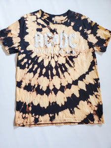 AC/DC Band Tee Hand Bleached Tee's Honey and Rowe Boutique