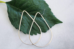 Large Matte Teardrop Earrings- Silver jewelry Ronda Smith Designs