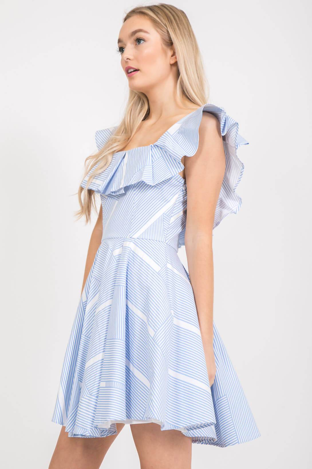 Light Blue Fit and Flare Dress Dress