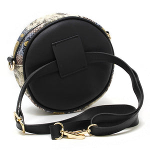 Till I Get Where You Are Beige Faux Leather Snakeskin Crossbody Bag/Fanny Pack handbag Judson & Company