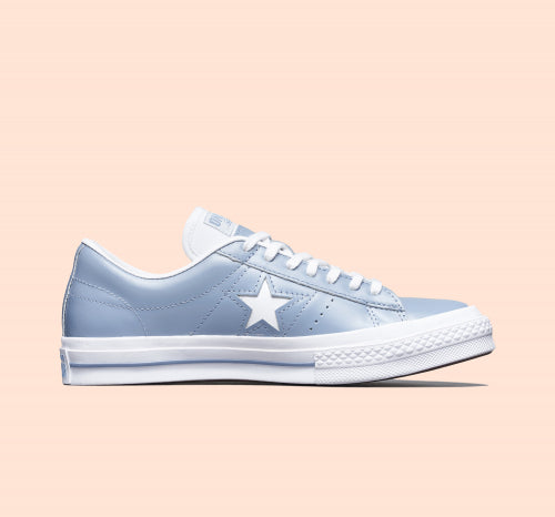 ONE STAR BIG STAR LEATHER BLUE LOW CUT 168133C
