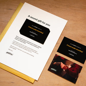 Recording Studio Giftcard - only £20 per hour!