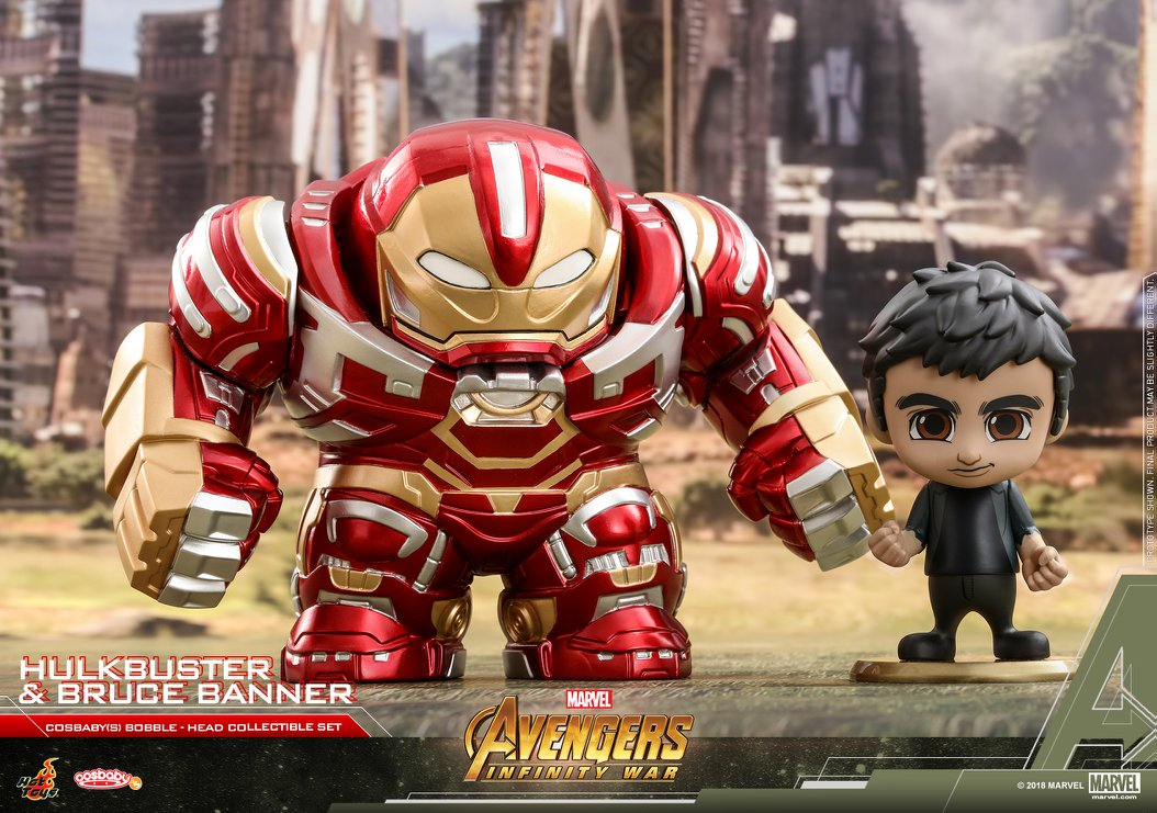 Cosbaby Hulkbuster and Bruce Banner Collectable Set - Japan Paradise
