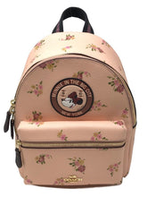 Load image into Gallery viewer, Coach X Disney Minnie Mouse Charlie Backpack Black Limited Edition Pink - Japan Paradise