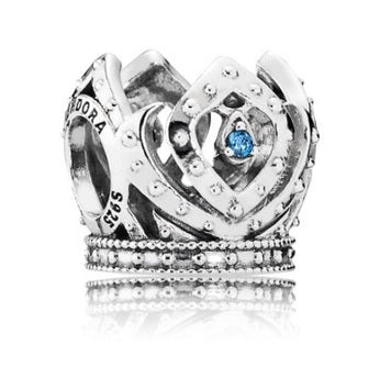 Pandora Disney, Elsa's Crown Charm, Blue CZ - Japan Paradise