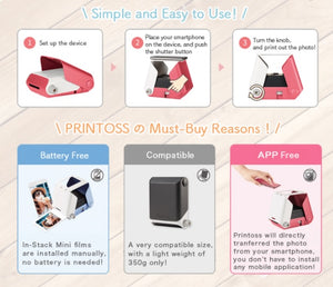 TAKARA TOMY Printoss Smartphone Photo Instant Printer - Japan Paradise