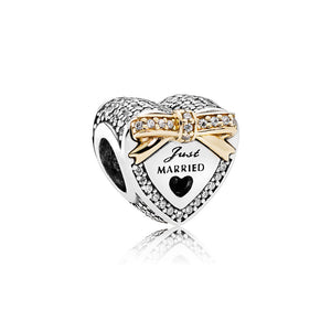 Pandora Charm Wedding Heart, Clear CZ - Japan Paradise
