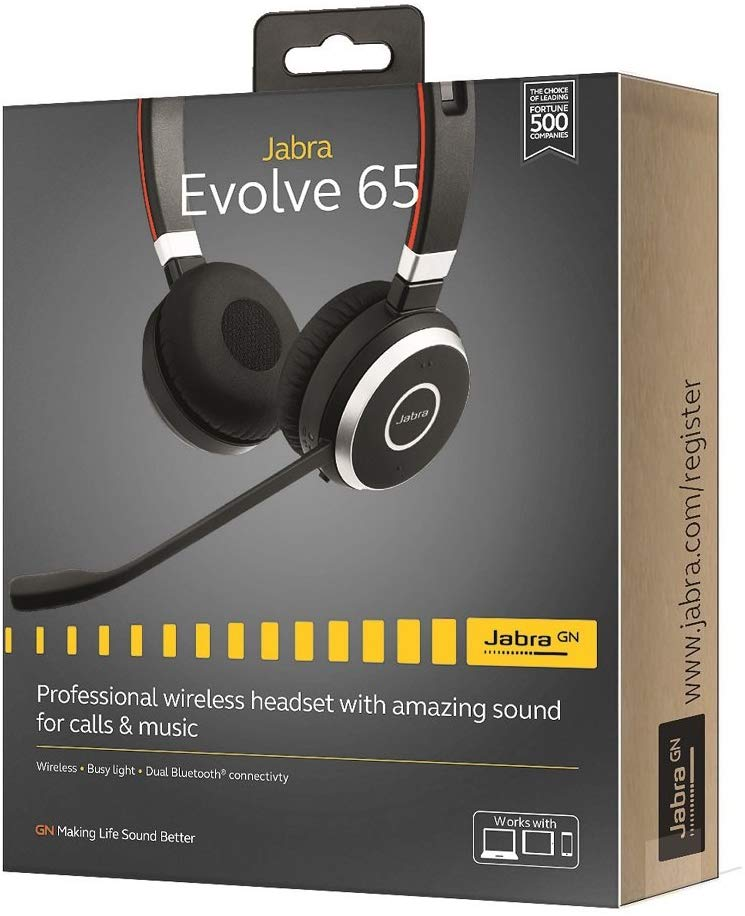Jabra Evolve 65 Wireless Bluetooth Headset Worldbuypro