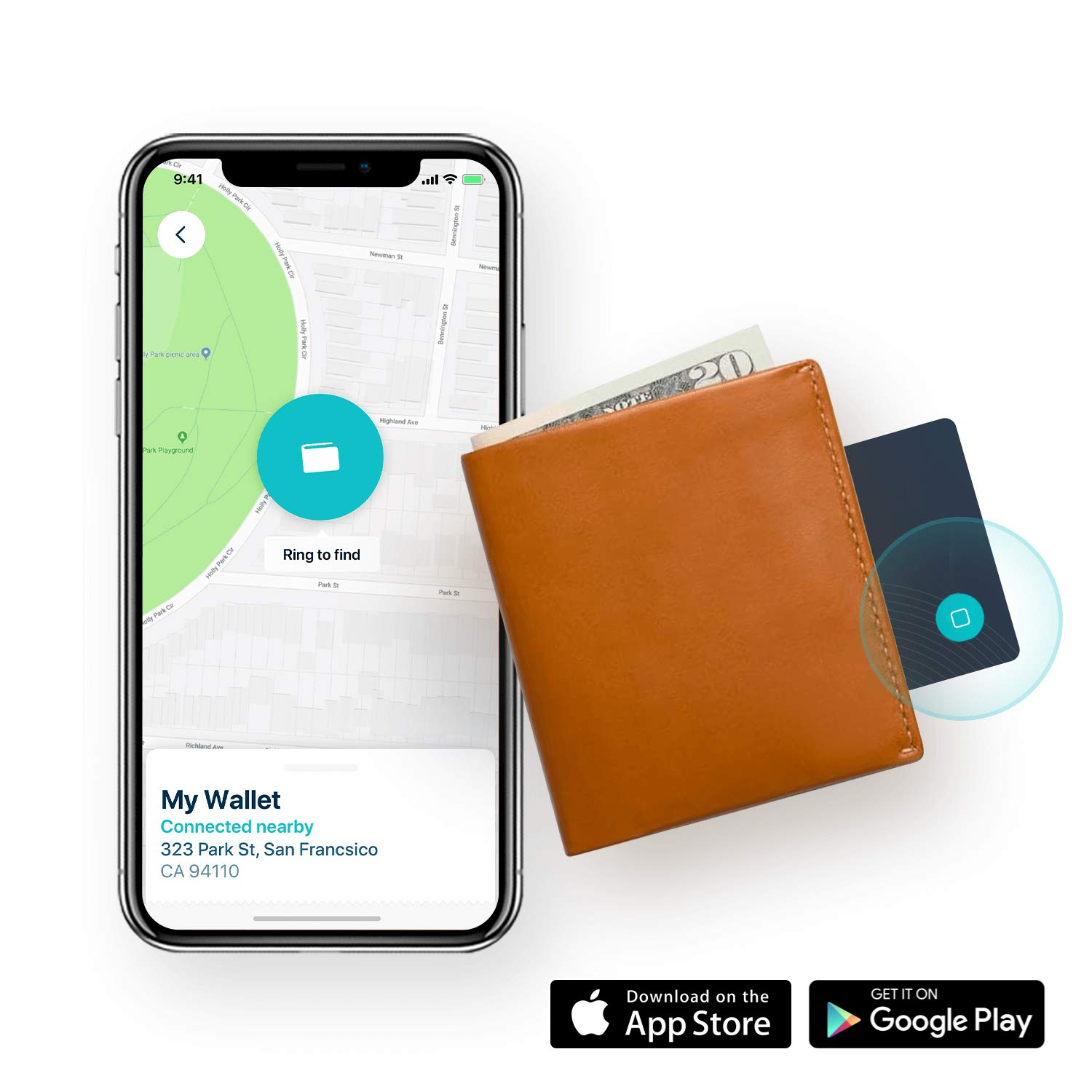 Wallet Free Companion App and Purse Safedome Recharge Bluetooth Tracking Card x 2 with Wireless Charging Pad Bag Water-Resistant and Rechargeable Slim Bluetooth Finder for Lost Phone