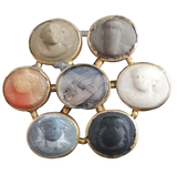 Georgian Lava cameo gold mourning brooch