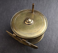 Antique Victorian brass fishing reel