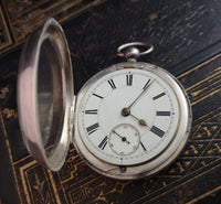Antique silver pocket watch, Victorian