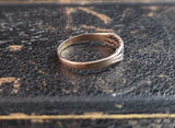 Antique Victorian keeper ring, 9ct Rose gold