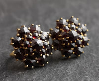 Vintage Art Deco bohemian garnet earrings