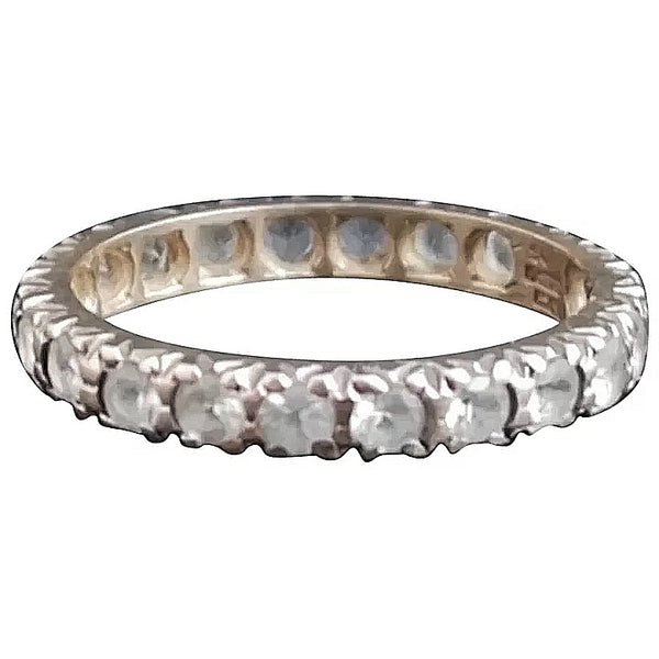 Vintage Art Deco paste eternity ring, 9ct gold