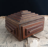 Vintage wooden tramp art box