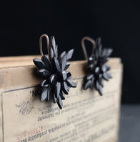 Victorian vauxhall glass earrings