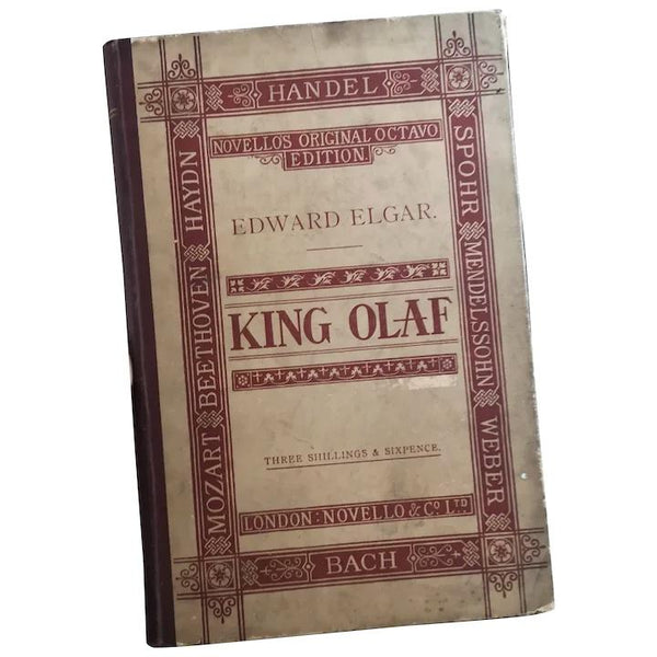 Antique opera book, King Olaf