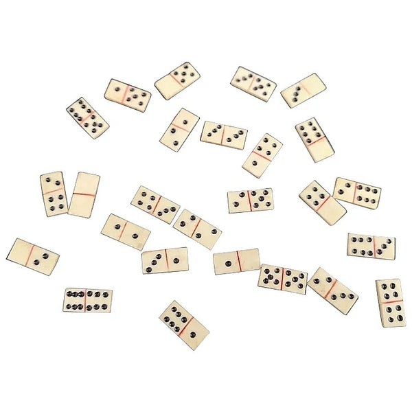Antique miniature bone dominoes