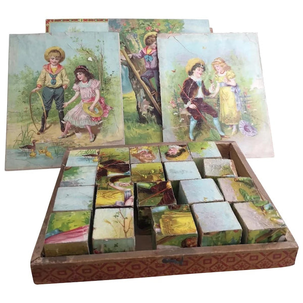 Victorian picture puzzle game