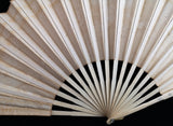 Antique silk and bone hand fan